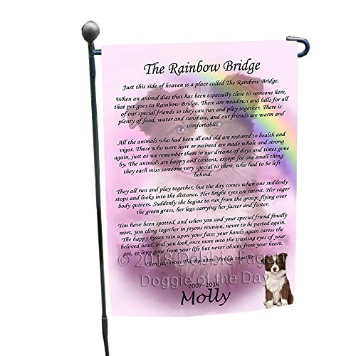 (Doggie of the Day Rainbow Bridge Border Collie Dog Garden Flag GFLG56110)