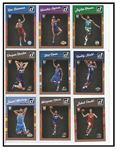 2016 2017 Donruss NBA Basketball Series Complete Mint 200 Card Set with Stars and Rookies Lebron James Stephen Curry Brandon Ingram and (Nba Mint)
