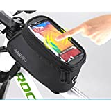Roswheel Cycling Bike Bicycle 4.8 inches Mobile Cell Phone Pannier Front Top Tube Bag (Black)