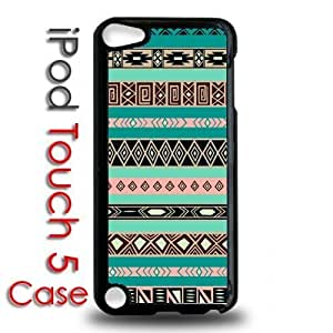 IPod 5 Touch Black Plastic Case - Aztec Tribal Pattern