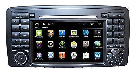 Android 4.4 pantalla táctil coche estéreo GPS DVD para Mercedes Benz Clase R W251 R280 R300