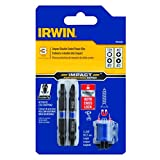 IRWIN 1903506 Impact Performance Series Double-Ended Screwdriver Power Bit Set with Magnetic Screw Hold, Assorted, 2 3/8-Inch, 3-Piece