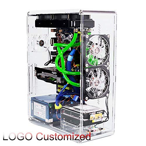 ATX Customizable Computer Open Case Bracket Acrylic DIY Transparent Water Cooling Air Bare Frame Support Graphics Card