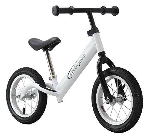 """CyclingDeal Pro Kids Child Push Balance Bike Bicyle 12"""" Pro White"""