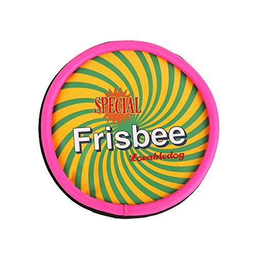 Wuoji Frisbee/Flyer Disc Dog Toy ,Multicolored,Non-Toxic, Floppy,Gentle on dog's mouth, Bite Frisbee Disc (Flyer Disc)