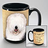 Dog Breeds (L-Z) Old English Sheepdog 15-oz Coffee Mug Bundle with Non-Negotiable K-Nine Cash by Imprints Plus (119)