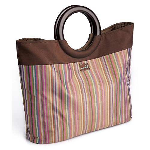 Della Q Lena Medium Knitting Bag 305-1 Brown by della Q