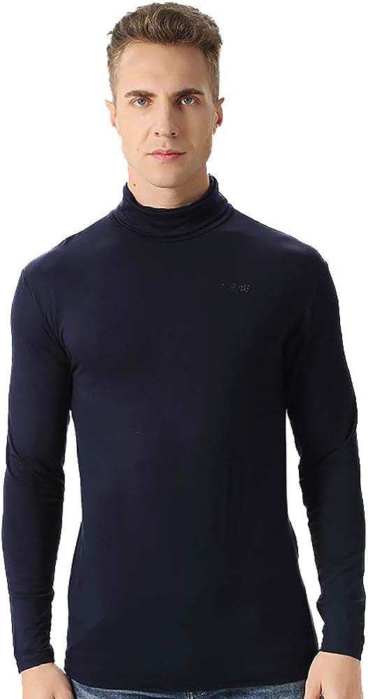 LVSFC - Camiseta térmica de manga larga para hombre, cuello alto ...