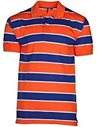 True Rock Men's Striped Mesh Polo Shirt