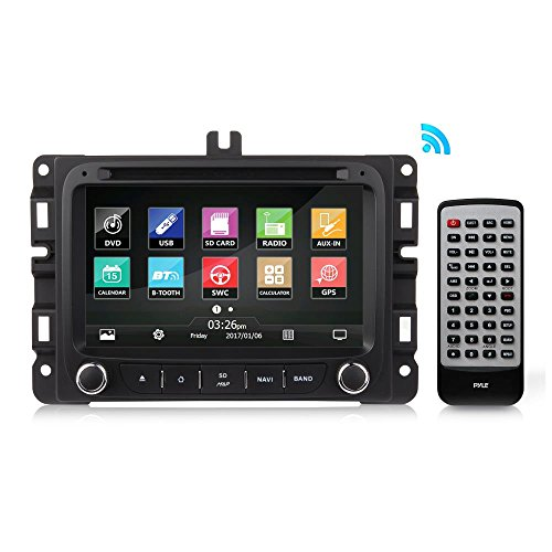 (2016 Jeep Renegade Double Din - Replacement Touchscreen Car Head Unit Stereo Radio Receiver with USB, GPS Navigation System, Compatible to Bluetooth, DVD Player, Wireless and Handsfree - PJEEPREN16.)