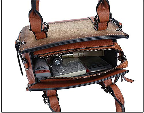Tout croisés 14 Sacoche Cuir Centrale 24 PU fourre à Mode bandoulière en Sacs 23cm d'unité LIGYM brown Sacs bandoulière à La twUqZZF