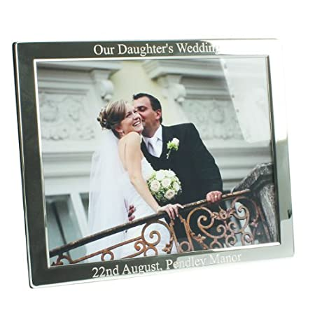 Personalised Our Daughters Wedding Silver Plated Photo Frame (8x10 ...