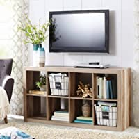 Horizontal or vertical 8 Cube Multiple Storage Organizer in Weathered