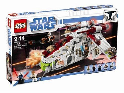 lego 7676 jeu de construction star wars republic attack gunship amazonfr jeux et jouets - Lego Star Wars Vaisseau Clone