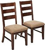 247SHOPATHOME IDF-3111SCX2 Dining-Chairs, Brown