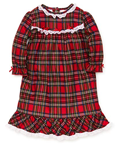 Little Me Baby Girl's Christmas Plaid Pajamas Sleepwear,