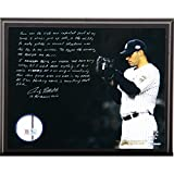 Andy Pettitte Facsimile 'Postseason Focus' 8x10 Plaque w/ Game Used Jersey