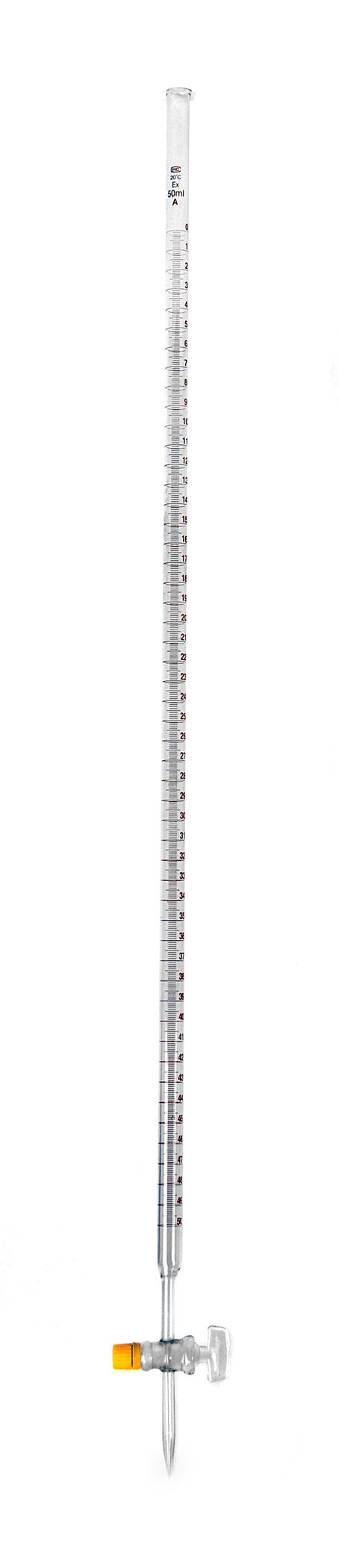 American Educational Borosilicate Glass 25mL Burette, with PTFE Stopcock