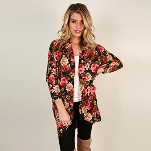 DEELIN Chaqueta De Kimono De Estampado Floral Bohemio De Mujer Tops Blusa: Amazon.es: Ropa y accesorios