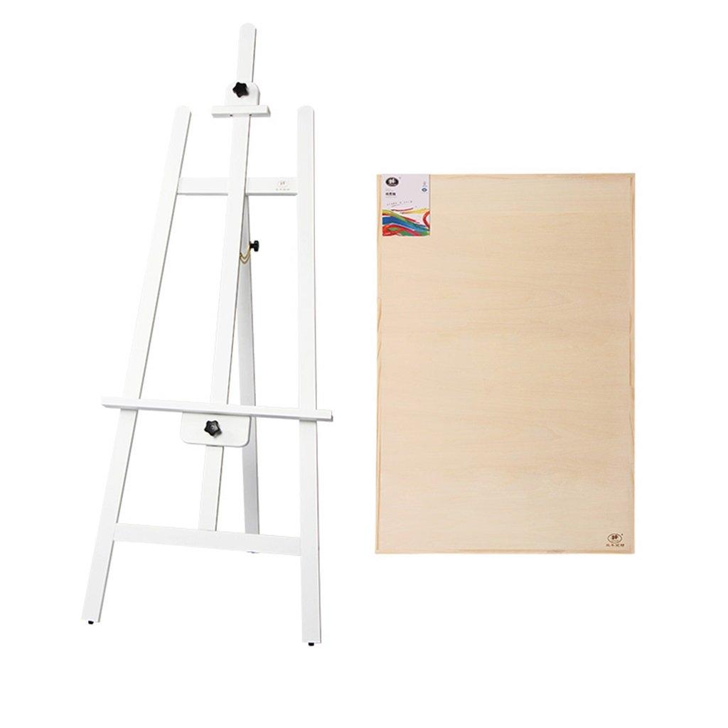 パインウッドイーゼルペイントシェルフソリッドウッド広告ウェディング展165 Cm 3色のオプション (色 : 白)  白 B07P2K6NS2