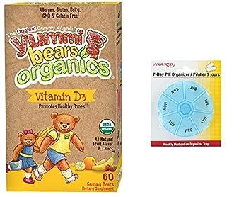 Yummi osos orgánicos vegetariano vitamina D suplemento para niños, Gummy Bears, cuenta 60 con