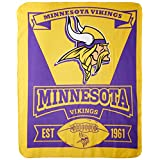 "NFL Minnesota Vikings Marque Printed Fleece Throw, 50"" x 60"", Purple"