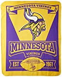 NFL Minnesota Vikings Marque Printed Fleece Throw, 50-inch by 60-inch