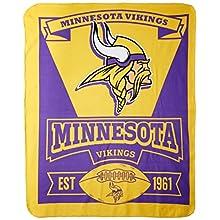 "NFL Minnesota Vikings ""Marque"" Fleece Throw Blanket, 50"" x 60"""