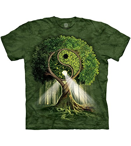 The Mountain Mens Yin Yang Tree Adult T-Shirt
