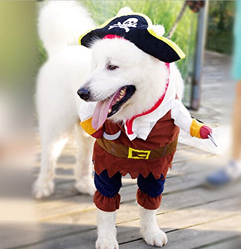 Pirates of the Caribbean Style Dog Cat Costume Suit and Hat