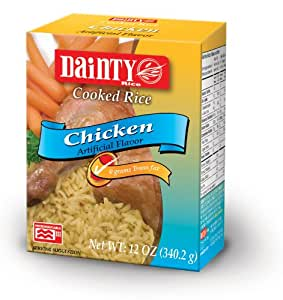 Amazon.com : Dainty Chicken Flavored Rice, 12-Ounce Boxes