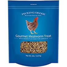 Pecking Order 009327 Gourmet, 8 lb Treat Blend with Mealworms for Backyard Poultry