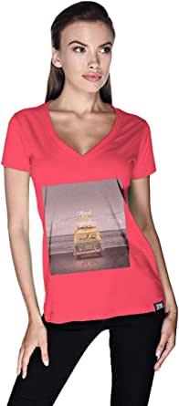 Creo Beach Van T-Shirt For Women - Xl, Pink