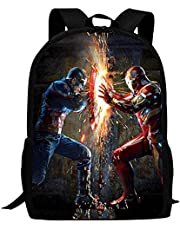 Captain America kinderschooltas, superheld, multifunctionele rugzak, hoge capaciteit, waterdicht en duurzaam, 3D-print