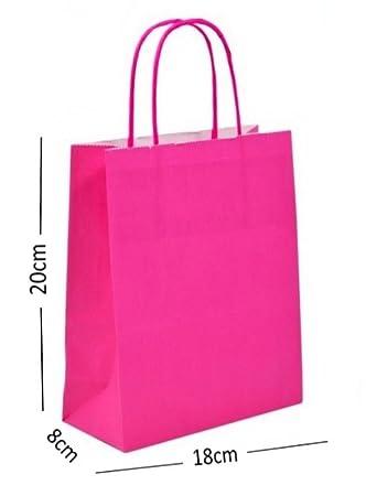 10 ~ Rosa Intenso Fiesta Bolsas de papel de Regalo ...