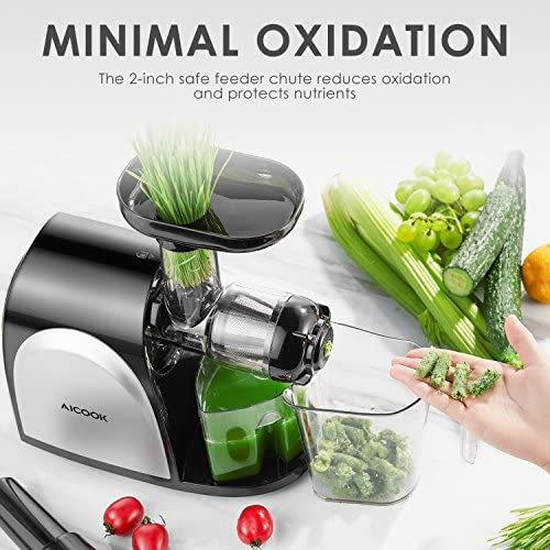 Juicer Aicook Slow Masticating Juicer Cold Press Juicer Machine Easy to Clean Higher Juicer Yield