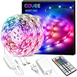 Govee 65.6ft LED Light Strip for Bedroom,Ultra-Long Color Changing Light Strip with Remote, 600LEDs DIY Color Options Tape Lights with ETL Listed Adapter for Room Kitchen Home Party Ceiling