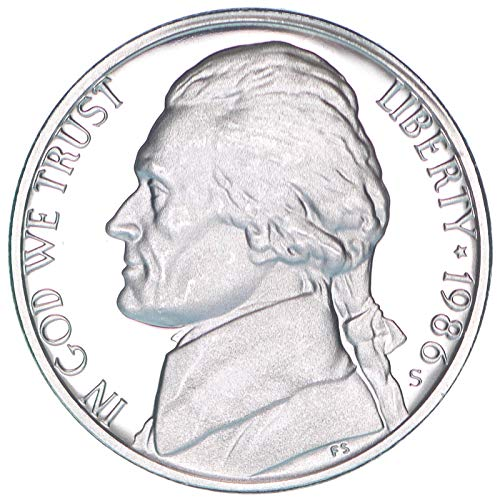 1986 S Jefferson Nickel Gem Deep Cameo Proof