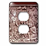 3dRose lsp_72571_6 Indonesia, Bali. Temple Stone Carvings Plug Outlet Cover
