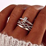 Fashion Infinity Rings Set For Women Girls Crystal Twist Ring Couples Gold Female Engagement Wedding Jewelry 2019 New (7)