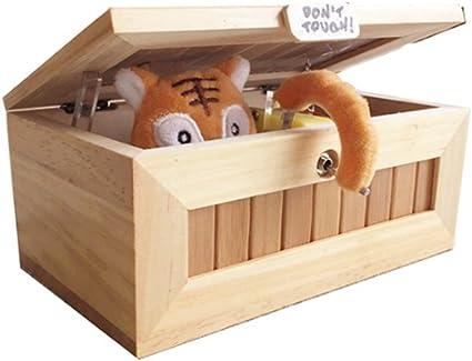 East Fashional Life - Caja de madera de broma, se cierra sola, de ...