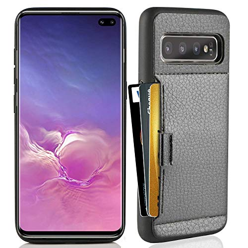 ZVE Wallet Case for Samsung Galaxy S10 Plus (2019), 6.4 inch, Case with Credit Card Holder Slot Slim Leather Pocket Protective Case Cover for Samsung Galaxy S10 Plus (2019), 6.4 inch - Black (Best Student Credit Card 2019)