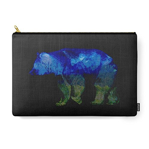 Society6 Grizzly In The Shadows Carry-All Pouch Large (12...