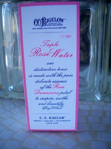 (C O Bigelow Triple Rose Water 8 oz Boxed No 003)