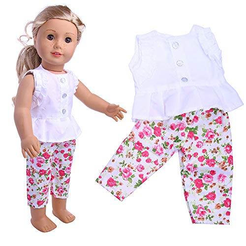 Denzar 18in Doll Clothes,18 Inch Alive Baby Doll Handmade Lovely Clothes Outfits Costumes Dolly Pretty Doll Clothes, Prefect for Taking -