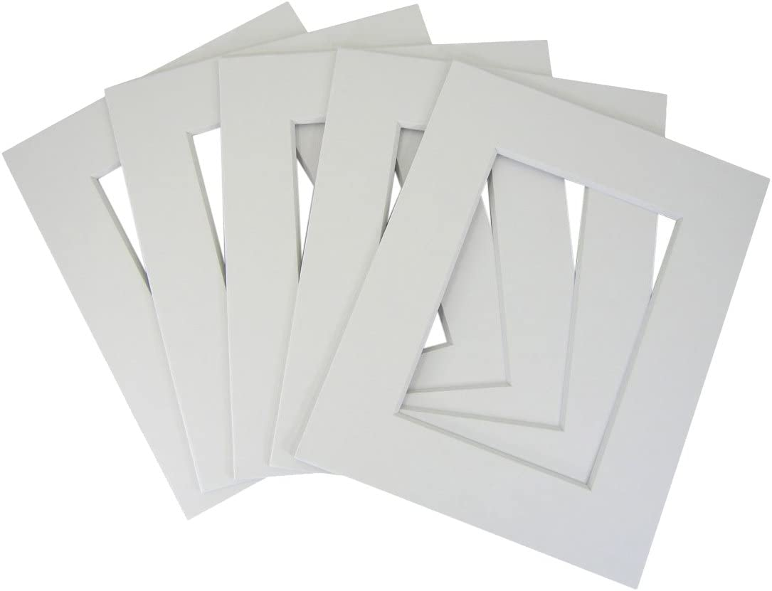 50 set of 11x14 White Photo Mats for 8x12 + backing + bags