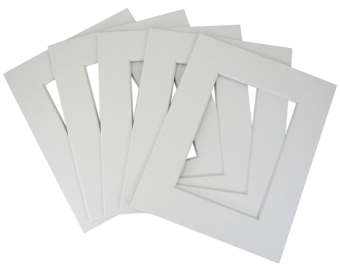 50 set of 11x14 White Photo Mats for 8x12 + backing + bags by Golden State Art