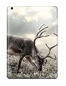Defender Case For Ipad Air, Deer On The Field Pattern