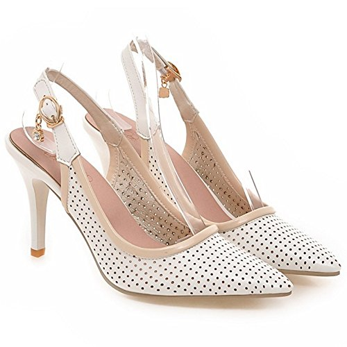 Coolcept Mujer Puntiagudo Pumps Zapatos White-62