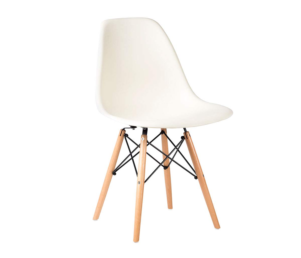 Set de 4 sillas Replica Eames. Color Blanco